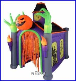 10.5' House of Horrors Haunted House Light Sounds Halloween Airblown Inflatable