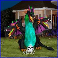 10 FT ANIMATED THREE HEADED DRAGON Halloween Airblown Yard Inflatable
