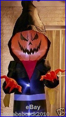 10 Ft Halloween Short Circuit Pumpkin Jack Airblown Inflatable Prop Yard Decor