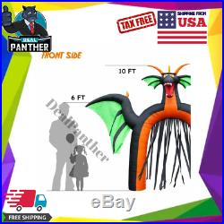 10 Ft LARGE Halloween Inflatables Dragon Archway Decorations Outdoor Yard Decor