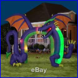 10 ft Lighted Dragon Archway Halloween Inflatable Fire & Ice Light Effect