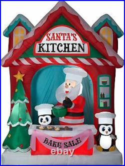 10ft Airblown Santa's Vintage Kitchen Scene Giant Christmas Inflatable