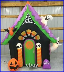 10ft Gemmy Airblown Inflatable Prototype Halloween Candy Corn Cottage #220547