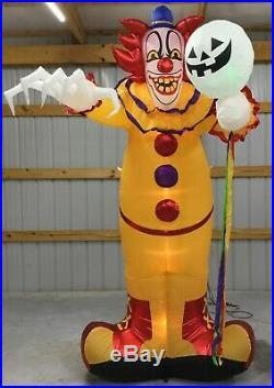10ft Gemmy Airblown Inflatable Prototype Halloween Scary Clown #221306