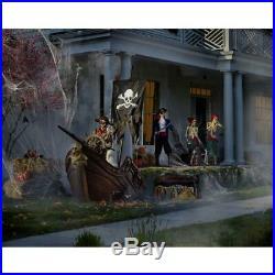116 Huge Halloween Animated Bucaneer Pirate Skeleton Ship Haunted Yard Prop