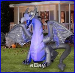 11.5 FT ANIMATED MYSTIC DRAGON Airblown Lighted Yard Inflatable FIRE & ICE
