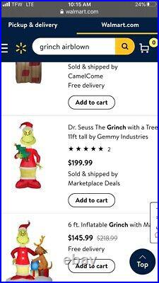 11 Ft THE GRINCH Christmas Airblown Inflatable Gemmy 2020 Holiday Sold Out