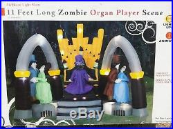 11' Halloween Dancing Zombie Organ Player (Air Blown Inflatable Decor) GEMMY