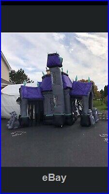 12 Ft Airblown Hallowen Haunted House Gemmy Rare Htf Working