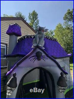 12 Ft Haunted House Halloween Airblown Gemmy Inflatable Rare Htf Walkthrough