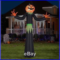 12 Ft. Kaleidoscope Giant Airblown Pumpkin Man Halloween Decoration Inflatable