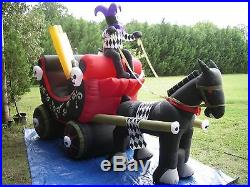 12' RARE Gemmy Lighted Halloween Animated Organ Player Airblown Inflatable -NICE