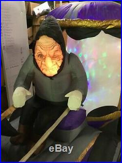 12ft Gemmy Airblown Inflatable Prototype Halloween Haunted Butler Carriage#58411