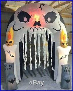 12ft Gemmy Airblown Inflatable Prototype Halloween Skull Tunnel #73771