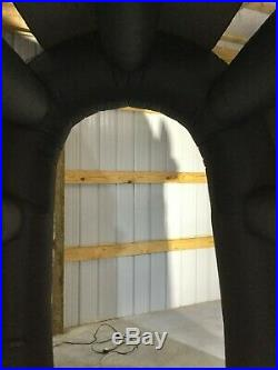 12ft Gemmy Airblown Inflatable Prototype Halloween Skull Tunnel with Sound #73771
