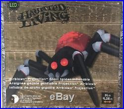 14 Ft Giant projection Spooky Spider Airblown Inflatable Halloween DecorationLED