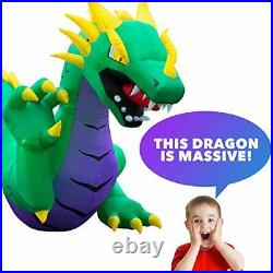 15 ft Inflatable Halloween Serpent Dragon Yard Decoration 15 ft Long Airblown