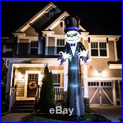 16 FT COLOSSAL PUMPKIN REAPER Airblown Lighted Yard Inflatable