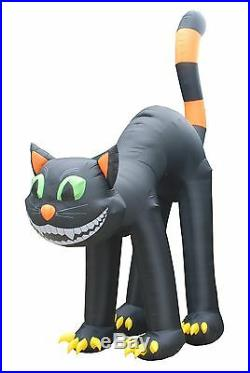 20 FOOT Animated Lighted Jumbo Halloween Inflatable Black Cat Yard Decoration