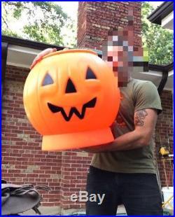 20 Tall GIANT HUGE Blow Mold Halloween Pumpkin Toy Box Vtg Vintage