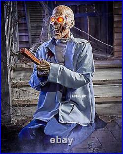 3.4' Halloween Constant Puncture Pete Animatronic Haunted House Prop