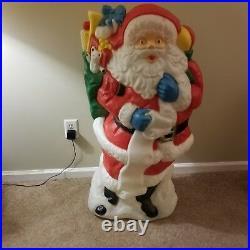 42 Santa's Best Santa Christmas Blow Mold Yard Decor Saint Nick Toy Vtg Rare