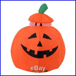 4FT Halloween Inflatable Up/Down Ghost Pumpkin Yard/Indoor Decor Lighted Blow up