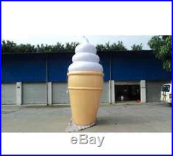 4m Inflatable Lighted Ice Cream Balloon Advertising with blower A
