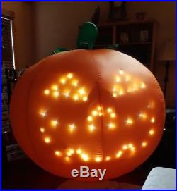 5.5 Ft GEMMY LIGHTSYNC PUMPKIN Airblown Inflatable SINGS THRILLER Hard to Find