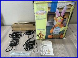 6 Ft Lighted Airblown Disney Tigger Rare Inflatable Box Gemmy Happy Easter