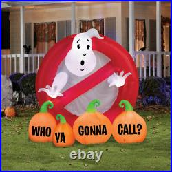 6' GHOSTBUSTERS LOGO WHO YA GONNA CALL Airblown Inflatable PRESALE
