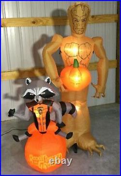 6ft Gemmy Airblown Inflatable Prototype Halloween Groot & Rocket #73484