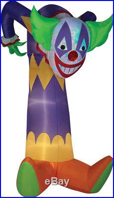 7.5 FT LOOMING SCARY CLOWN Airblown Yard Inflatable KALEIDOSCOPE LIGHTING