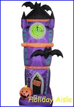 7.5 Ft HALLOWEEN CLOCK TOWER Air Blown Lighted Yard Inflatable