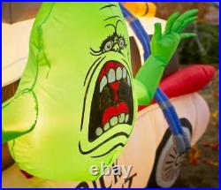 7 FT GHOSTBUSTERS ECTO 1 WITH SLIMER Airblown Lighted Yard Inflatable