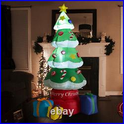 7 FT Inflatable Christmas Tree LED Lighted Outdoor Yard Holiday Decorations Gift