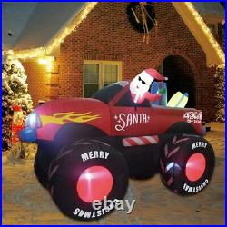 7 Ft Christmas Self Inflatable Trucks with Santa Clause Blow up Yard Decoration