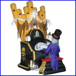 7 Ft SKELETON ZOMBIE ORGAN PLAYER Airblown Lighted Yard Inflatable DECORATION