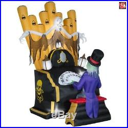 7' Gemmy Airblown Inflatable Skeleton Playing Organ