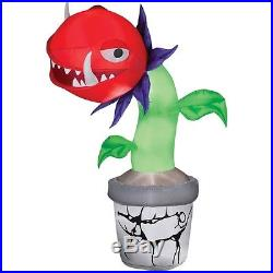 7'Tall Lighted Spooky Man Eating Plant Halloween Airblown Inflatable By Gemmy