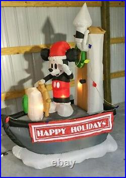 7ft Gemmy Airblown Inflatable Prototype Christmas Disney Steamboat Willie #82733