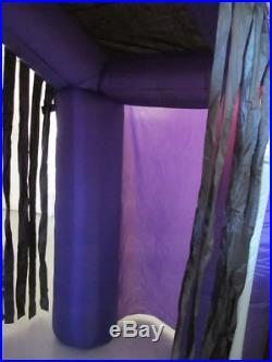 8.5 ft Inflatable Haunted House Castle Halloween Yard Grim Reaper Ghost Skulls