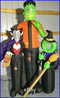 8ft Gemmy Airblown Inflatable Prototype Halloween Selfie Scene #74267