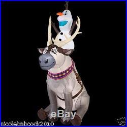 90 Christmas Olaf & Sven Disney Gemmy Airblown Inflatable Lighted Yard Decor