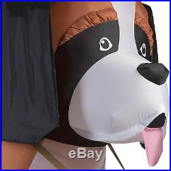 9.5ft Christmas Gemmy St Bernard Dog W. Santa Hat Airblown Inflatable Yard Decor