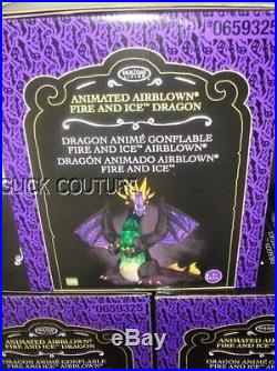 9' Animated FIRE DRAGON Halloween Airblown Inflatable 11' WINGS FLAP Lightshow