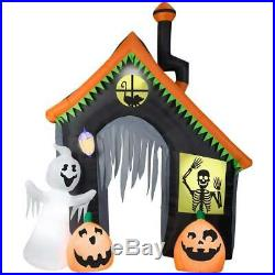9 FT SPOOKY HAUNTED HOUSE ARCHWAY Airblown Lighted Yard Inflatable