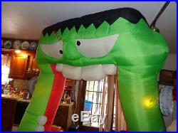 9 FT Tall Airblown Inflatable Gemmy Halloween Frankenstein Archway Yard Prop