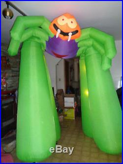 9 FT Tall Airblown Inflatable Halloween Spider Arch Gemmy