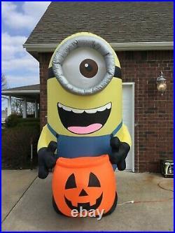 9ft Gemmy Airblown Inflatable Prototype Halloween Carl withPumpkin Sack #72735